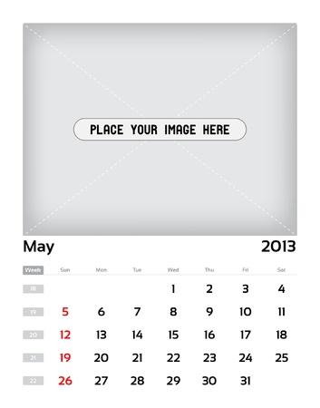 Vector calendar 2013 - may Stock Vector - 15470139
