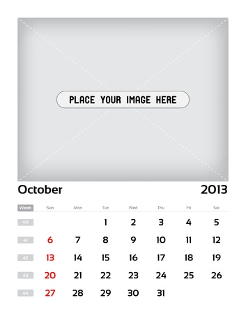 Vector calendar 2013 - october Stock Vector - 15470142