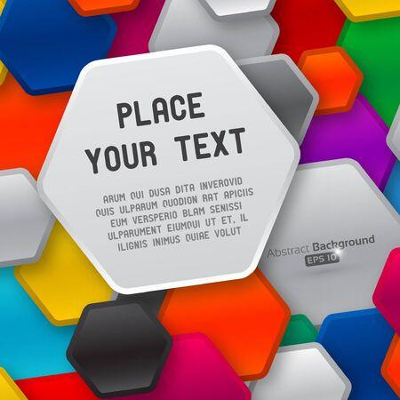pentagon: Colorful pentagon shapes Illustration