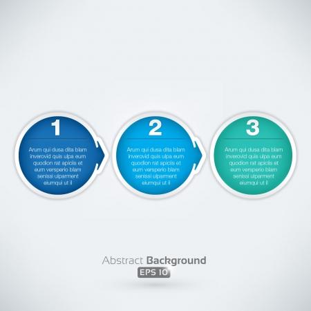 쉬운 3 단계 화살표 거품