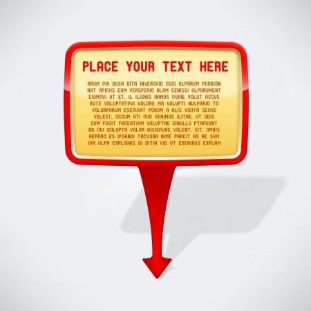 Pointer arrow with speech bubble