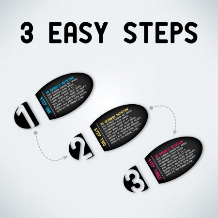 easy: Three easy steps Illustration