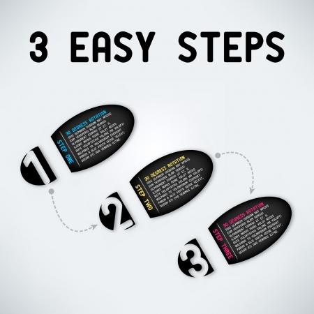 Three easy steps Vettoriali