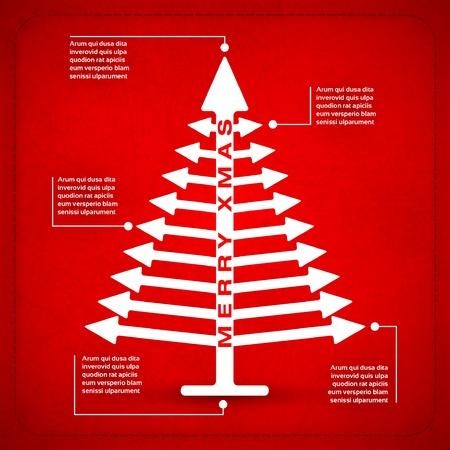 Simple arrow xmas tree Stock Vector - 15862342