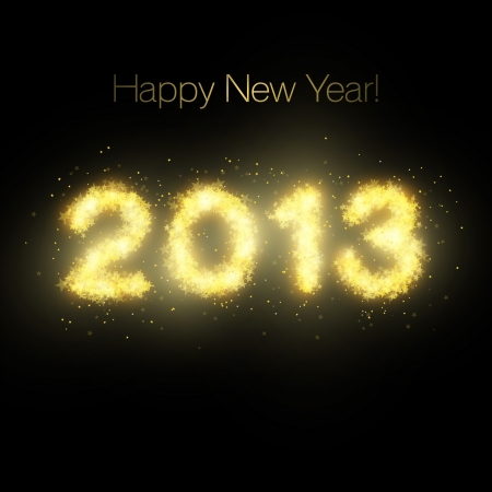 Happy New Year stars Stock Vector - 16003539