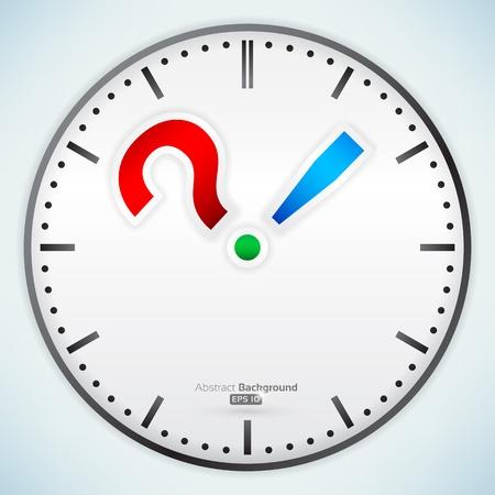punctuation: Punctuation marks on clock Illustration
