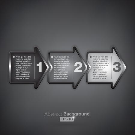 N�chster Schritt arrow Boxen auf dunklem Hintergrund
