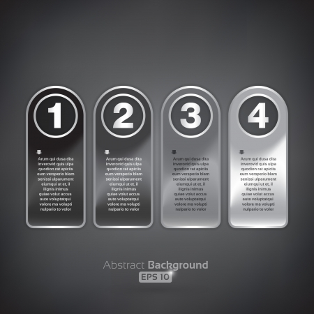 Four rounded tags Vector