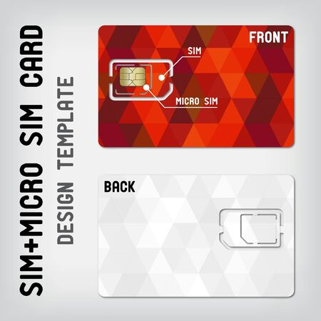 sim: SIM+Micro SIM card template Illustration