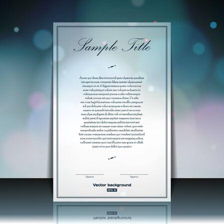 Abstract brochure template Stock Vector - 17148922