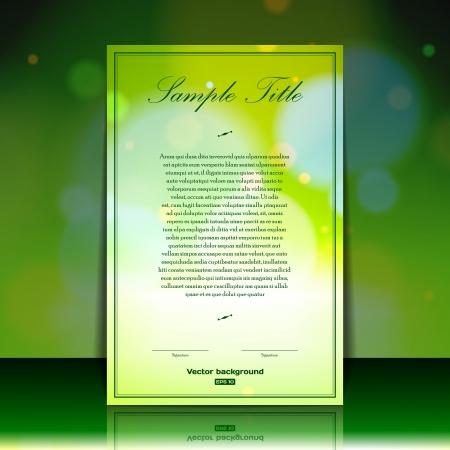 Abstract brochure template Stock Vector - 17148921