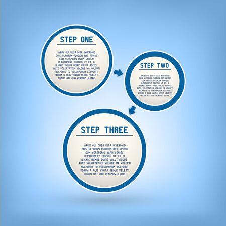 Three steps speech bubbles Stock Vector - 17415180