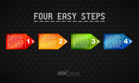 Four Easy Steps Vector