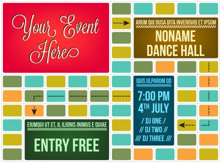 Abstract flyer template Vettoriali