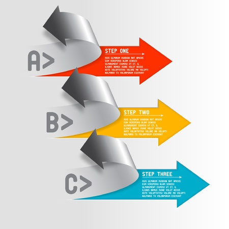 Three step arrows Vector