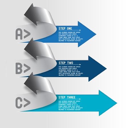 Three step arrows Stock Vector - 17703140
