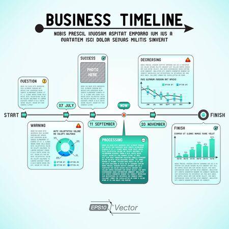 ligne: D'affaires calendrier
