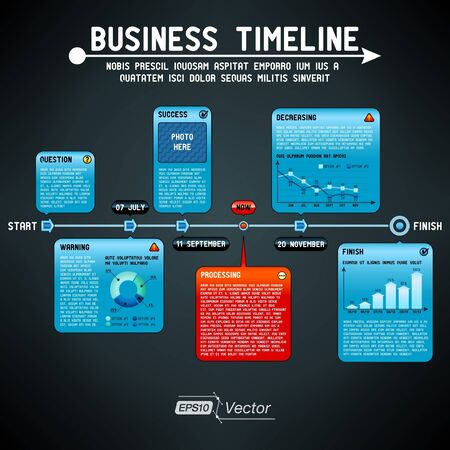 Business timeline Vector