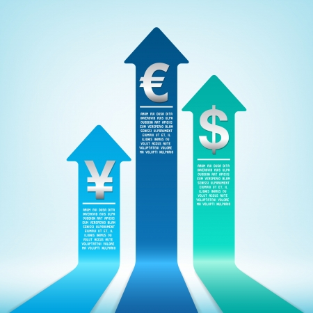 Increasing currency Stock Vector - 18095717