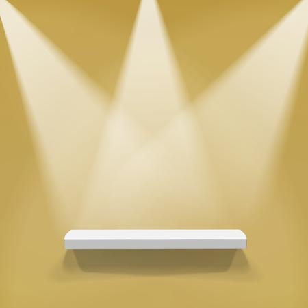 Abstract illustration of three spotlights Vector