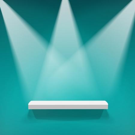 spotlight lamp: Abstract illustrazione di tre faretti