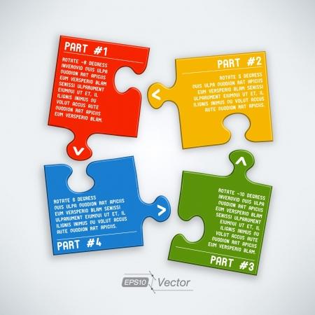Four parts puzzle Stock Vector - 18357465