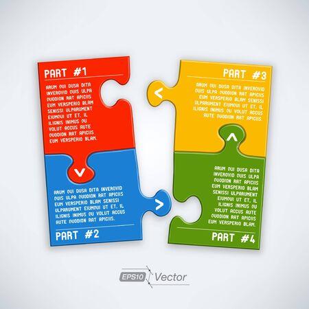 color separation: Four parts puzzle