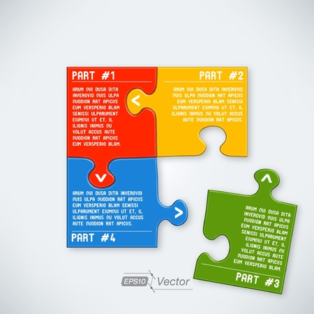 Four parts puzzle Stock Vector - 18357462