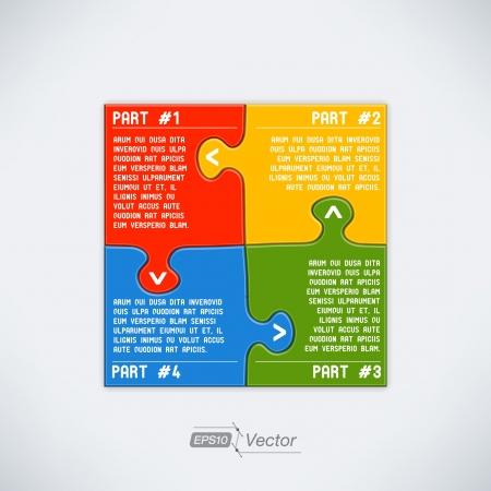 Four parts puzzle Stock Vector - 18357461