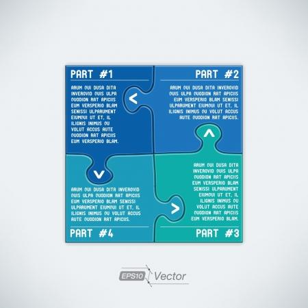 foda: Cuatro piezas de puzzle