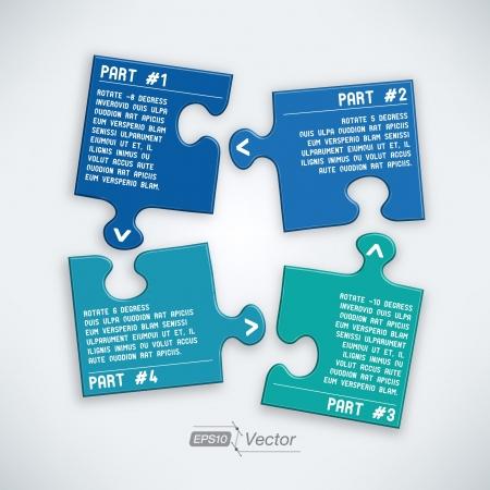 Four parts puzzle Stock Vector - 18358221
