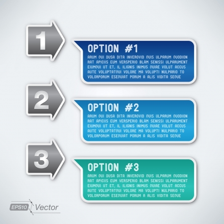 Three options Vector