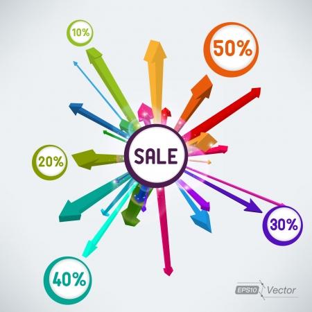 Explosion sale arrows Vector