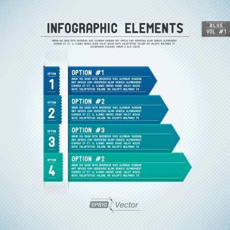 Detailed colorful infographic elements Vector