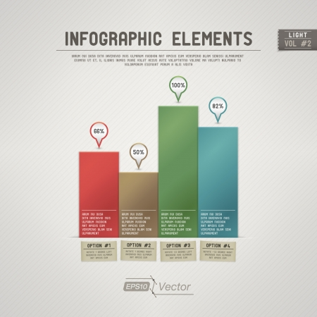 bar graph: Detailed colorful infographic elements