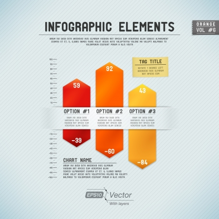 bar chart: Detailed colorful infographic elements