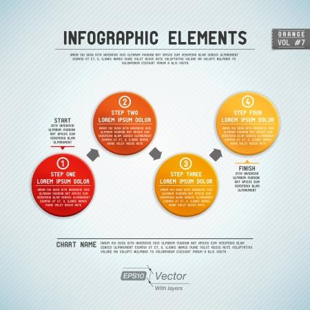 Detaillierte bunten Infografik Elementen Illustration