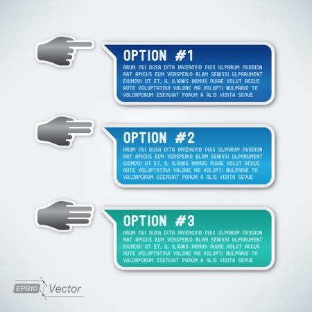 Three options Illustration