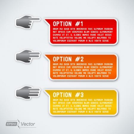 Three options Vector
