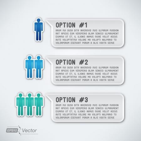 Three options Vettoriali