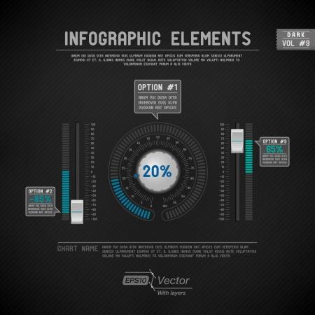 Dettagliate elementi infographic colorati Archivio Fotografico - 19297339