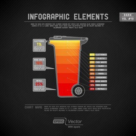 Detailed colorful infographic elements