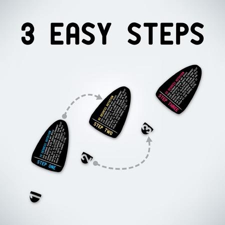 Three easy steps Ilustração