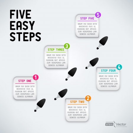 Five easy steps Vector