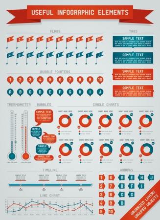 N�tzliche Elementen Infografik Illustration