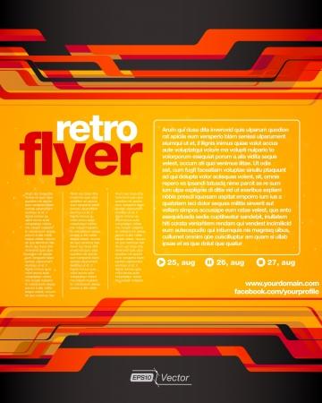 Abstract background for your business flyer design Ilustração