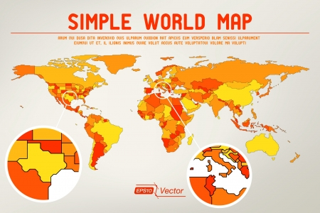 Abstract simple world map design Ilustração