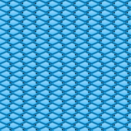 Seamless Abstract Fish Background Vector