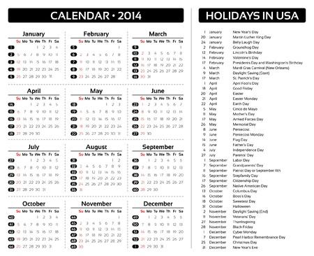 Card Calendar 2014 Vector