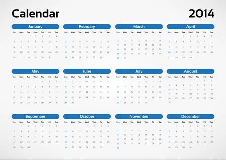 Vector calendar 2014 Vector